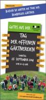 Flyer zum Tag der offenen Gärtnereien in Bamberg 2014