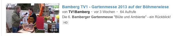 Bamberg TV1 zur Gartenmesse 2013