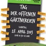 Flyer Tag der offenen Gärtnereien Bamberg 2013