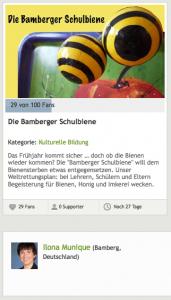 Die Bamberger Schulbiene – Crowdfunding 2013