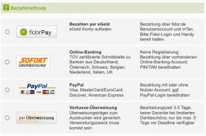 Bezahlmethoden / Spenden via Startnext