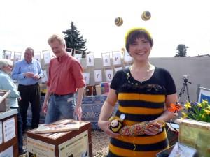 Die Bamberger Schulbiene auf der Gartenmesse