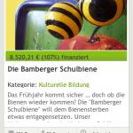 """Crowdfunding-Ergebnis """"Bamberger Schulbiene"""""""
