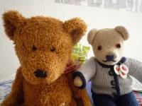 Zwei Honig-Plüschbären