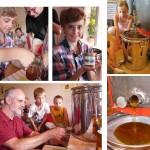 Fotomontage – Honig abfüllen