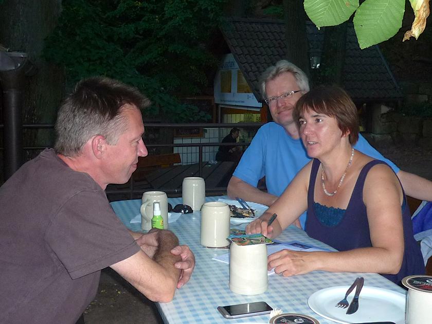 Andreas Lösche, Reinhold Burger, Ilona Munique im Krafts-Keller Oberhaid
