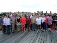 Gruppenbild auf dem Dach der Stadtwerke
