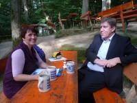 Ilona Munique und Andreas Schwarz im Strullendorfer Keller