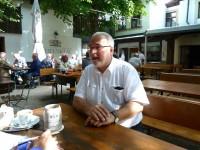 Wolfgang Grader beim Wahlprüfstein-Interview im Greifenklau-Keller