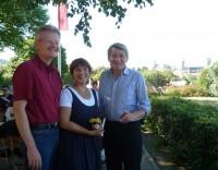 Reinhold Burger, Ilona Munique und MdL Heinrich Rudrof im Spezial-Keller