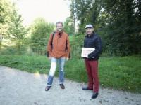 Reinhold Burger von Bienen-leben-in-Bamberg.de und Michael Gerencser, Stadt Bamberg