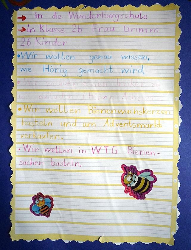 Bewerbungsschreiben der Wunderburgschule