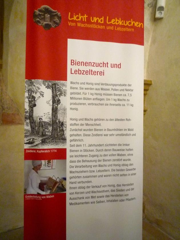 Banner zur Bienenzucht und Lebzelterei