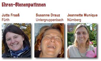 Porträts von Ehrenbienenpatinnen