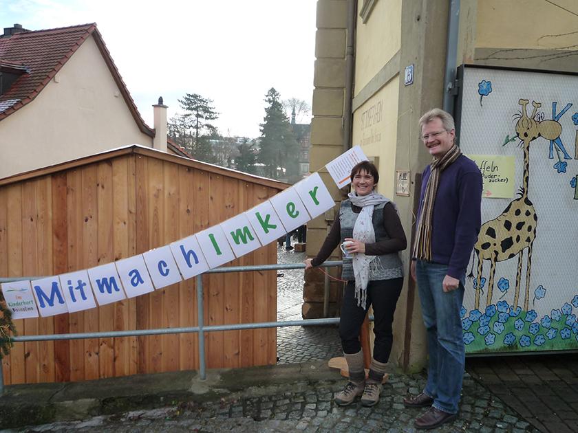 Ilona und Reinhold am Don Bosco-Weihnachtsmarkt 2012