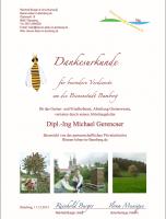 Verdiensturkunde von Bienen-leben-in-Bamberg.de