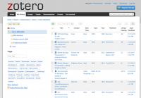 Screenshot Zotero-Literaturverwaltung