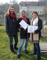 Klara Bretschneider, Bienenpatin Ruth Vollmar, Ilona Munique