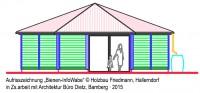 Zeichnung Bienen-InfoWabe