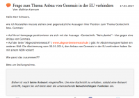 Frage von Matthias Kamann an Andreas Schwarz