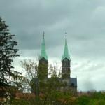 Blick aus dem Schulfenster des KHG auf Dom
