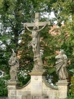 """Der steinerne Namensgeber des Bamberger Lagenhonigs """"Berggebiet/Hohes Kreuz"""""""