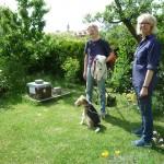 Reinhold Burger, Meike Winnemuth und Foxterrier Fiete
