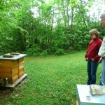 Birgit Herrndobler und Reinhold Burger an den KHG-Bienen