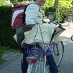 Fahrradtransport des Schwarmfangkastens