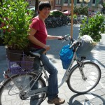 Transport mit dem Rad unserer Balkonpflanzen