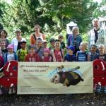 Die Hortgruppe der Jean-Paul-Kita Bamberg beim Bienenerlebnistag von BLIB
