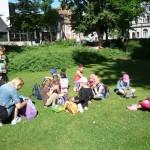 Pause im Harmoniegarten