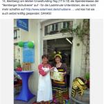 Katharina Müllerschön und die Bamberger Schulbiene bei der Spendenübergabe 2013