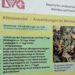 """Tafel zum Klimawandel am """"Tag der offenen Tür"""" der LWG Veitshöchheim"""