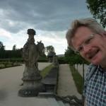 Veitshöchheimer Schlossgarten mit Reinhold und Gewitterwolken