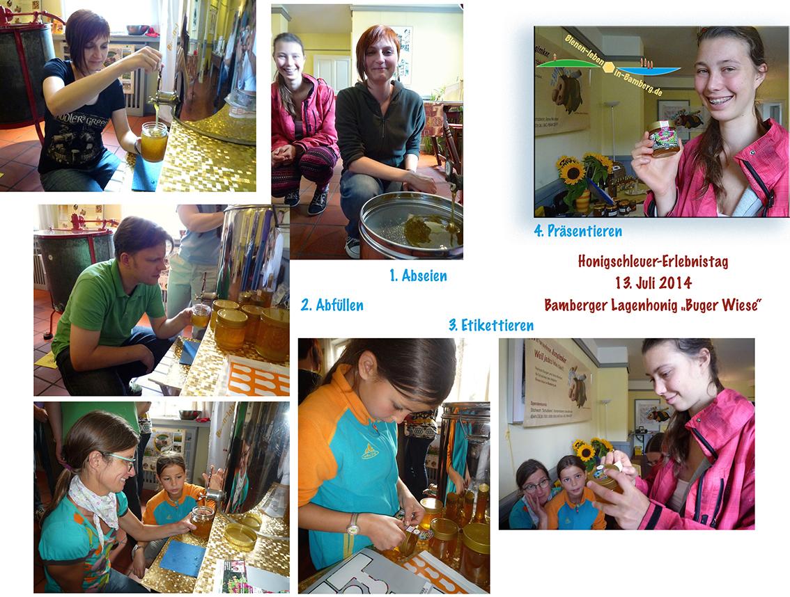 Fotocollage zur Honigverarbeitung