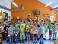 Gruppenbild der Igel- und Bienengruppe Kita St. Oswald Baunach