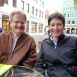 Reinhold Burger und Ina Kudlich beim Bienenpaten-Interview