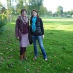 Ilona Munique und Bienenpatin Wiebke Burkhart