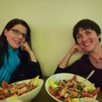 Wiebke und Ilona im Faltbootclub