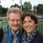 Reinhold und Ilona am Bahnhof Eggolsheim