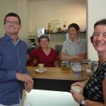 Entspannte Gäste im Mokka makan Bamberg