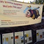 """Plakatierung des Standes der Initiative """"Bienen-leben-in-Bamberg.de"""""""