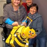 Bienentrolley mit Sabine Saam, Reinhold Burger und Ilona Munique