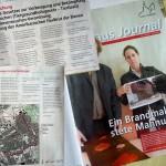 Amtsblatt – Rathaus-Journal (Collage) mit Meldung zur Faulbrutseuche