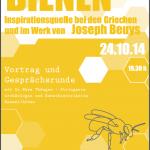 """Plakat """"Bienen – Inspirationsquelle bei den Griechen und im Werk von Joseph Beuys"""" Hassfurt, Waldorfschule 2014"""
