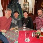 Reinhold, Ilona, Steffi und Marcus im Heerlein