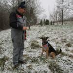 Michael und Hund Mani auf der Jungbauer-Wiese