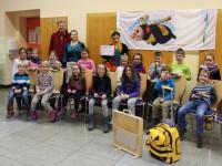 Klasse 1a beim Schulbienenunterricht in der Wunderburgschule