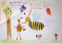 Bienenzeichnung von Annika aus der Wunderburgschule